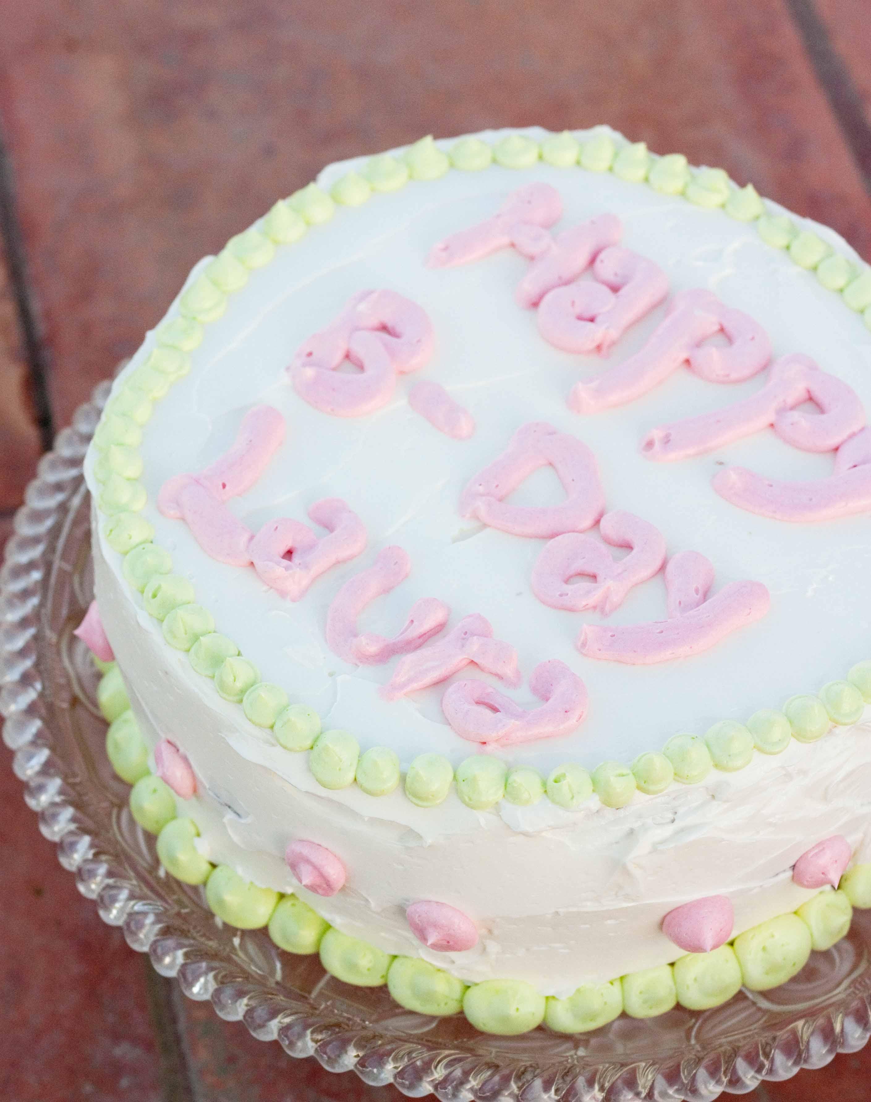 Cake Decorating Italian Buttercream : Italian Buttercream Birthday Cake   Foodologie