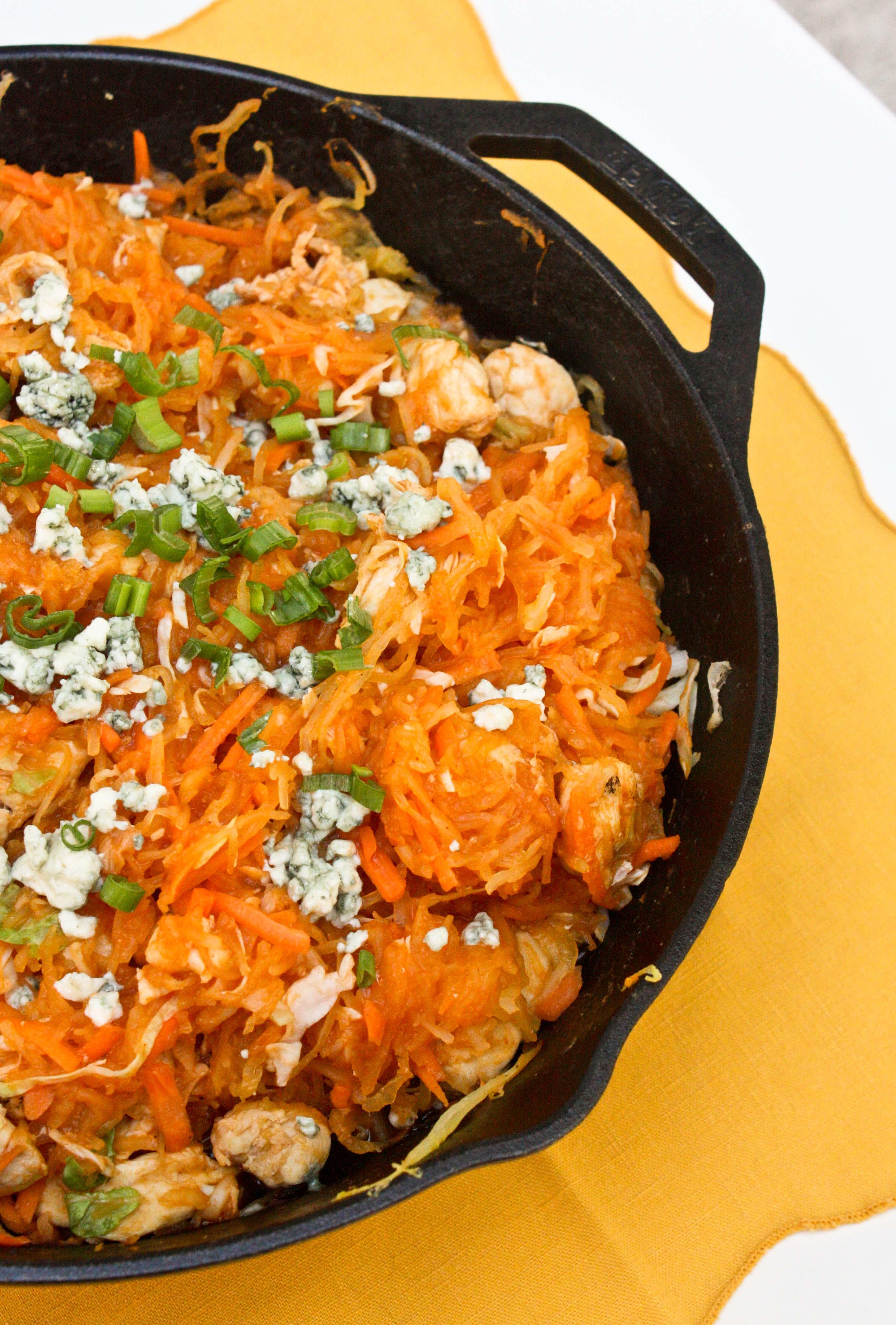 Buffalo Chicken Spaghetti SquashFoodologie