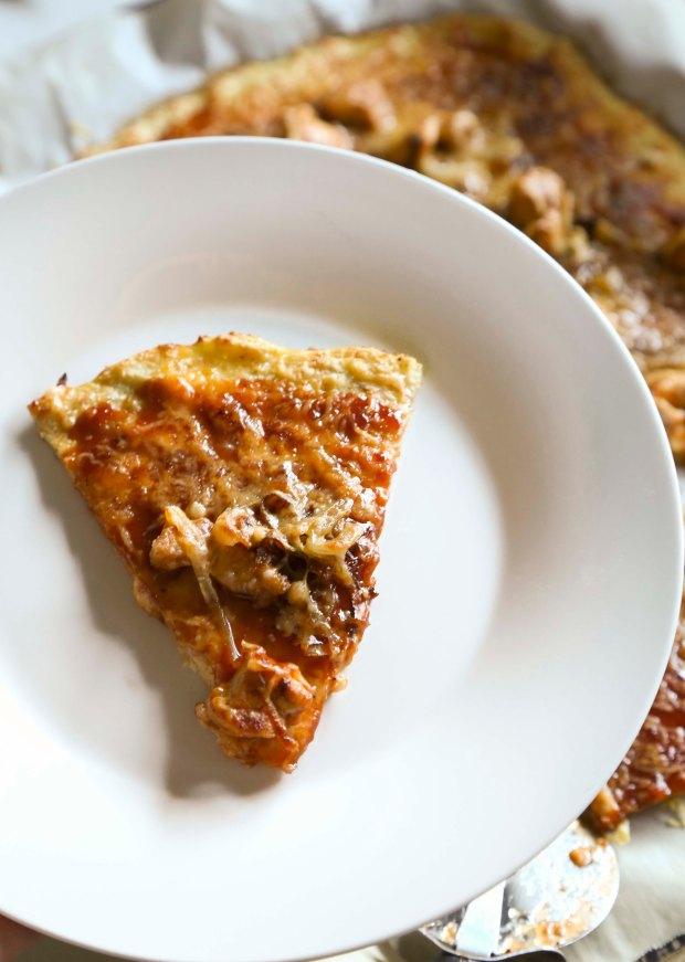BBQ Chicken Cauliflower Pizza1