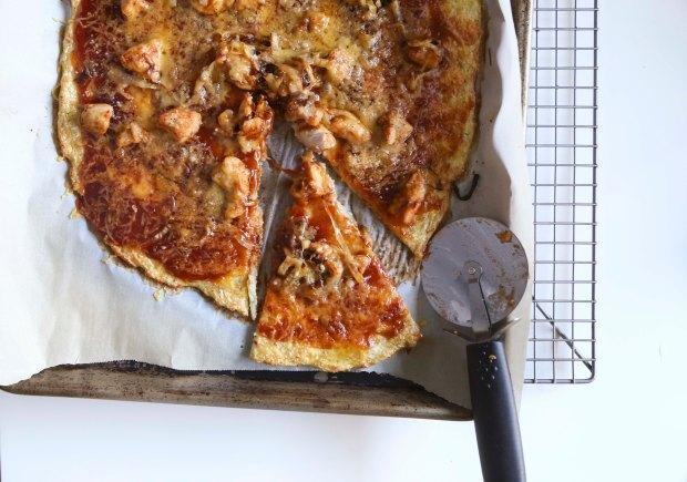 BBQ Chicken Cauliflower Pizza2